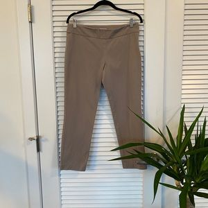 LOFT tan work capris - Size 6